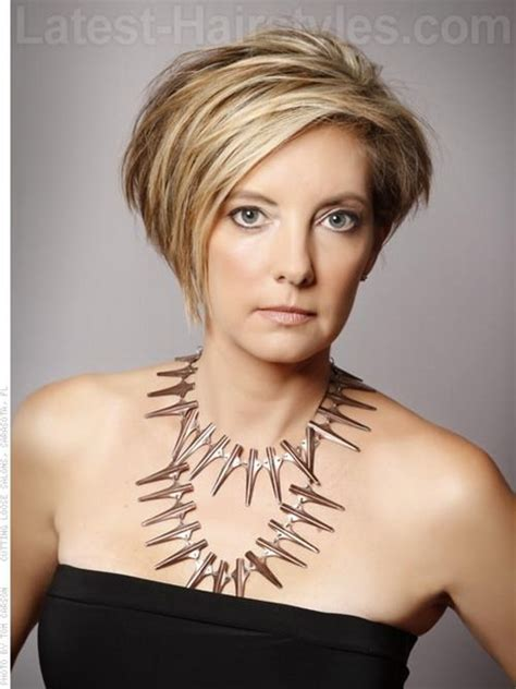 spring short hairstyles 2013 for older women short asymmetrical haircut