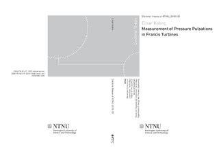 measurement of pressure pulsations in francis turbines