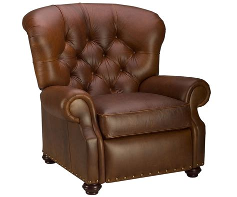 large leather recliners large tufted back leather recliner chair