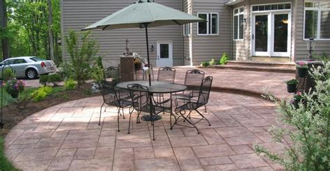 patio layout ideas patio designs tips for placement and layout plans for concrete patios the concrete network