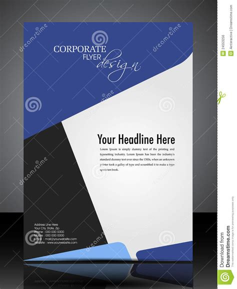 Eps 10 Professional Corporate Flyer Design Royalty Free Stock Image Image 24553256 Professional Flyer Templates