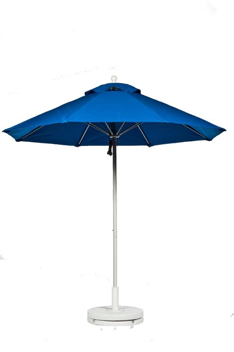 Industrial Patio Umbrellas Frankford Umbrellas 7 5 Commercial Grade Fiberglass Market Umbrella In Assorted Colors