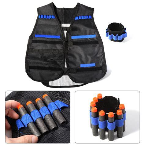 Set Cikicoko 3in1 Vest With Black elite series tactical vest bracer reload kit set