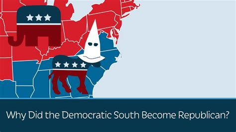 when did color start why did the democratic south become republican