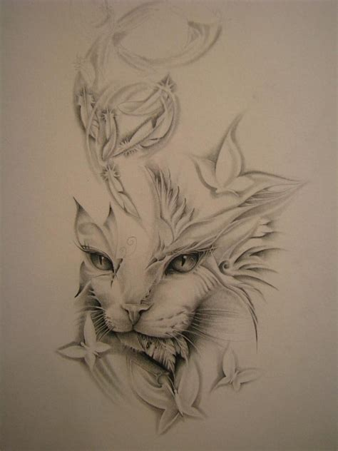 Tattoo Love Cat | beautiful cat tattoo i love it tattoo s pinterest