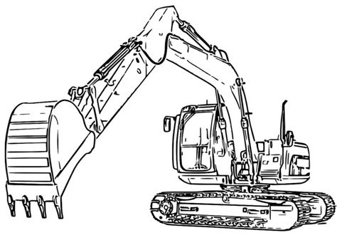 caterpillar excavator coloring pages excavator coloring pages to download and print for free