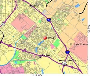irvine california zip code map zip code map of irvine ca images