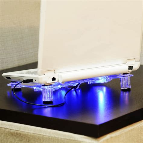 laptop stand with fan na ju 3 fans laptop cooler base with blue led light