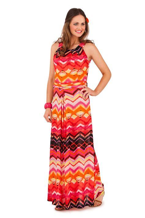 Striped Strappy Dress womens striped zig zag strappy maxi length summer