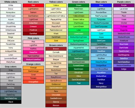 colour names inspiration pattern design color pantone and color inspiration
