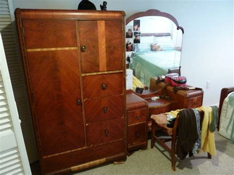 1930s bedroom set full bedroom 1930s 7 piece art deco complete waterfall
