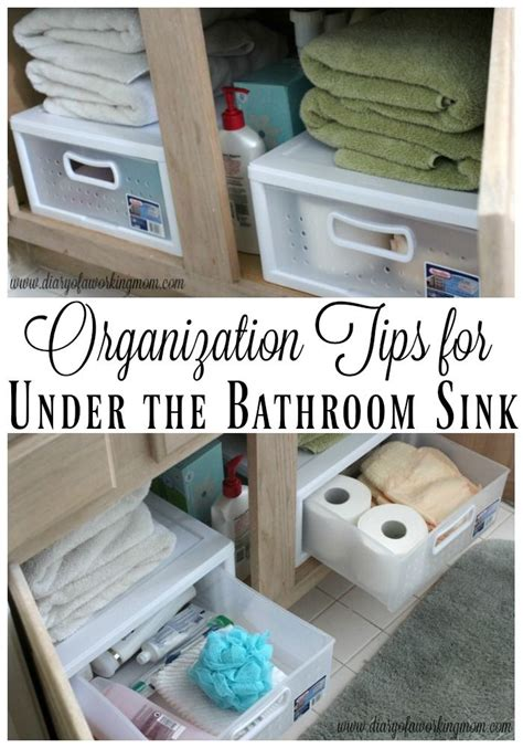organization tips    bathroom sink