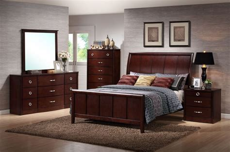 baxton studio argonne queen size  piece modern bedroom set home furniture bedroom
