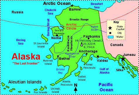 united states map with oceans alaska map