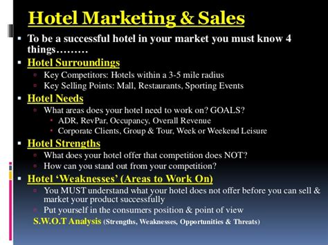 hotel marketing sales