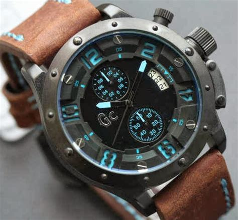 Jam Tangan Pria Quicksilver Darkbrown Font Blue Leather jam tangan gc e6381
