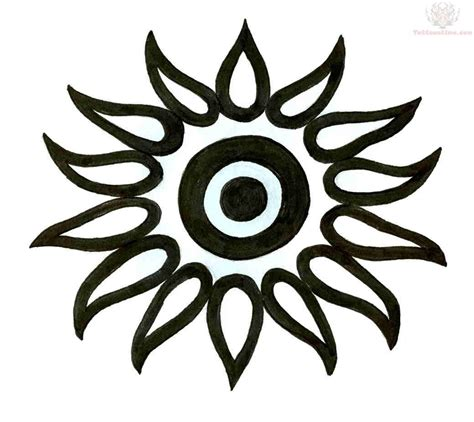 tattoo design sun black sun design