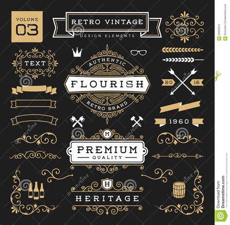 vintage menu design elements vector set retro design tiki bar menu on wooden background cartoon