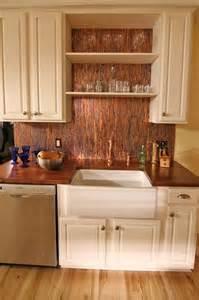 kitchen backsplash sheets 1000 images about copper backsplashes on