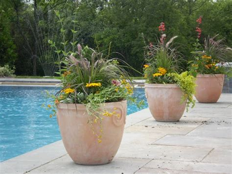 Pool Planters by