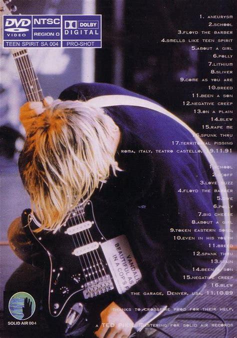 Nirvana 1cd 1989 nirvana spirit live 1989 1991 1dvdr giginjapan