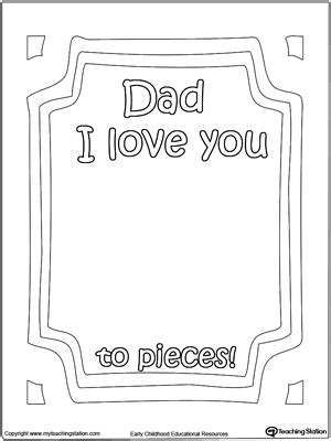 preschool fathers day card templates kindergarten and colors printable worksheets