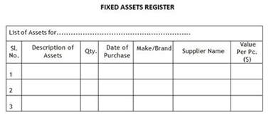 sample fixed assets register ngo financial funds for ngos