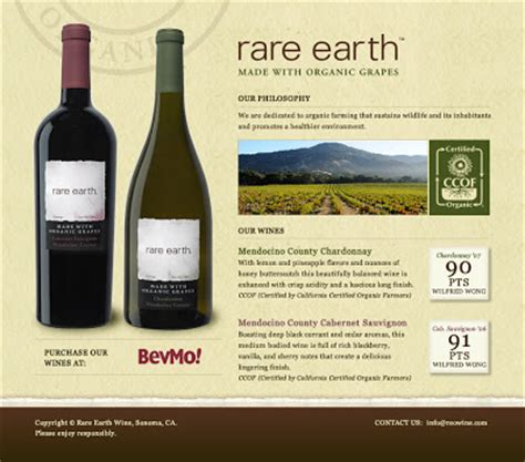 organic wines uncorked: organic option at bevmo: rare earth
