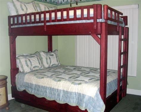 bunk bed queen queen loft bed plans with desk woodideas