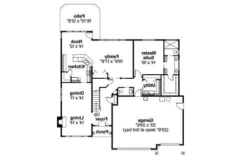 European Floor Plans by European House Plans Tamarack 30 426 Associated Designs