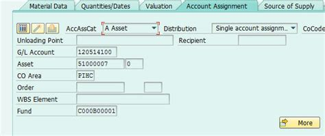 badi tutorial sap technical populate account assignment data using me process req cust