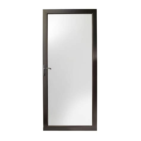 Emco 3000 Series Door by Emco 36 In X 80 In 75 Series Bronze Self Storing