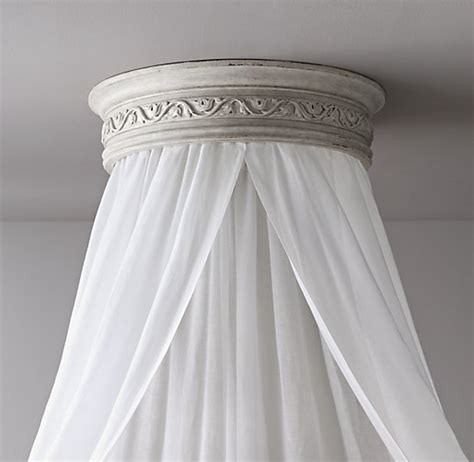 Ceiling Bed Canopy Vintage Grey Carved Wood Canopy Ceiling Bed Crown