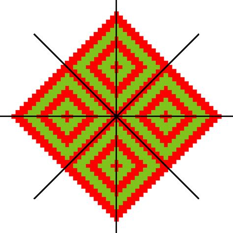 pattern with one line of symmetry geometrical aspects of bora basketry