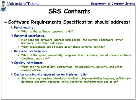 software requirements specification document exle