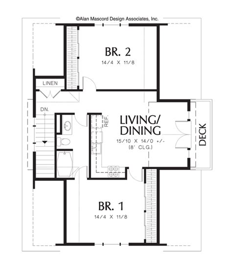Garage Guest House Floor Plans by Two Bedroom Apartment Above Garage Plan 5016 The Athena