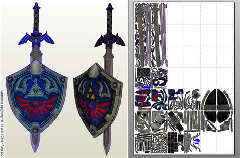 Master Sword Papercraft - master sword papercraft template pictures to pin on