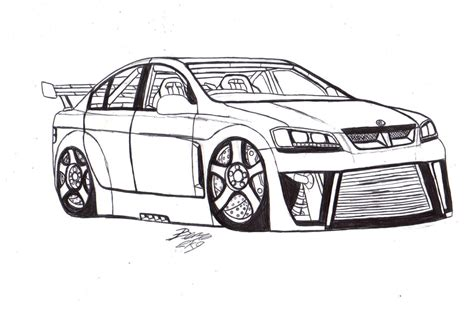 coloring pictures of holden cars hsv clubsport lineart by mister lou on deviantart