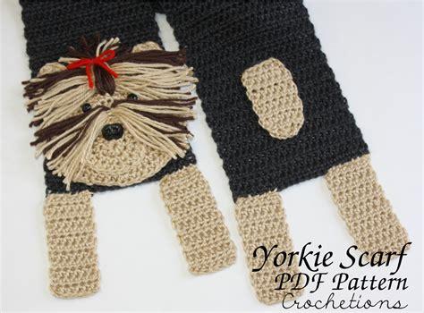 crochet yorkie pattern yorkie scarf crochet pattern crochetions