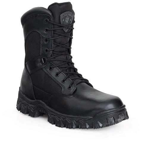 duty boots s rocky 174 8 quot alphaforce zipper waterproof composite toe