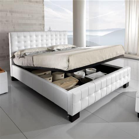 letti in pelle con contenitore letto in pelle bianco con contenitore etnico outlet mobili