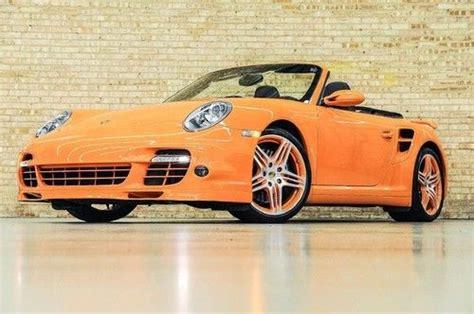 sick porsche 911 find used 2008 porsche 911 turbo cabriolet gt3 orange