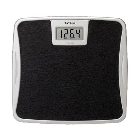 electronic bathroom scale taylor 7329b lithium electronic digital bath scale 25
