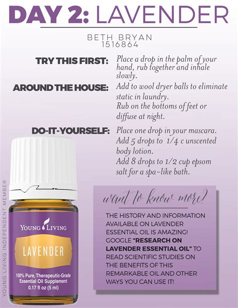 day 2 how to use lavender essential oil welcome to beth s yl website