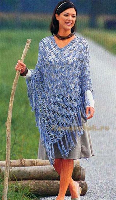 Вязание пончо с выкройками