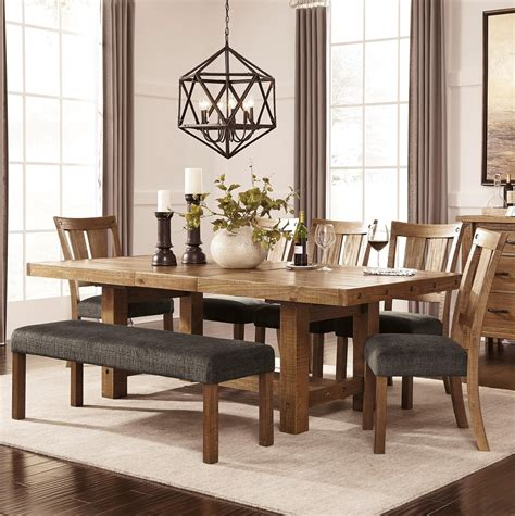 ashley dining table with bench ashley signature design tamilo 7 piece table chair set