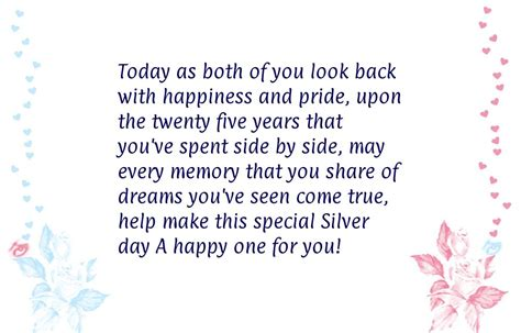 Silver Wedding Anniversary Quotes For 25th anniversary ideas