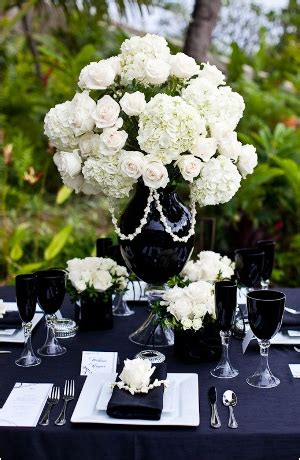 Black Vase With White Flowers Source Of These Photos Weddingbee