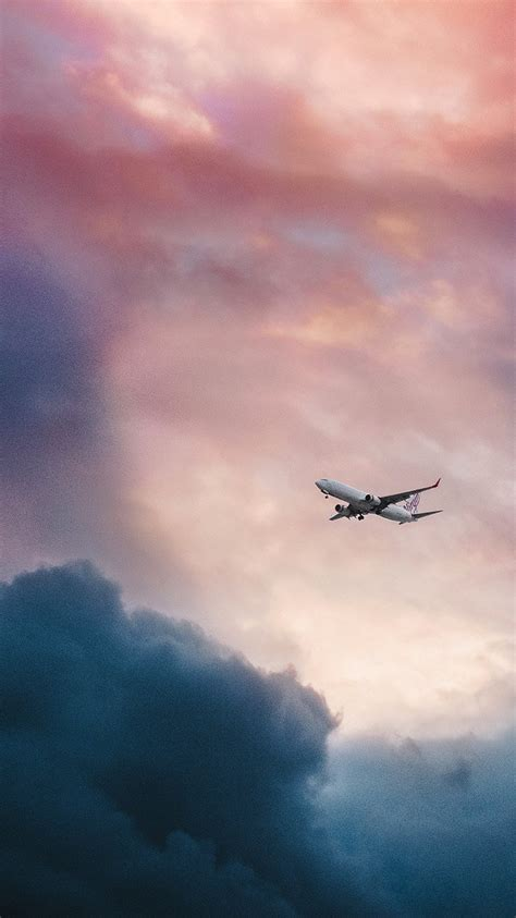 wallpaper for iphone plane i love papers nv09 cloud plane fly sky nature