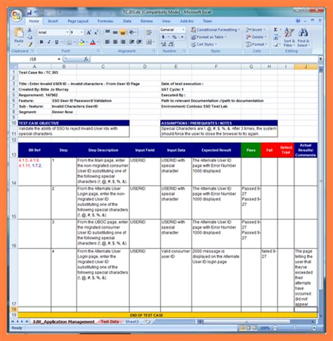 test plan template exle test plan template excel plan template